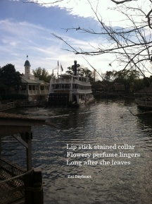 Lip stick stained collar/ Flowery perfume lingers/ Long after she leaves -Kel Dayheart